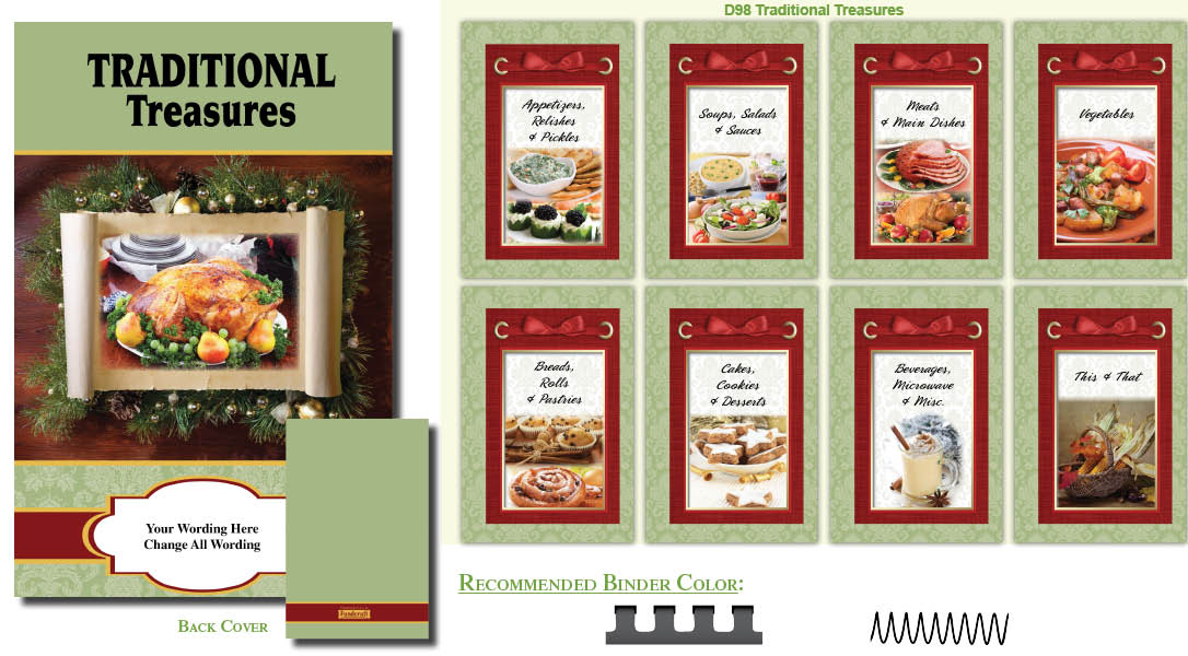 cookbook covers  traditions inspired cover